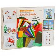 """buttinette Bastelpapier-Koffer """"Weihnachten"""", 113-teilig"""