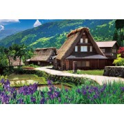 Village Gokayama M71-855 Joining One's Hands In Prayer Making A Blooming Flower Piece Micro 1000 (Japan Import)