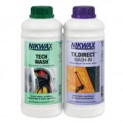 Препарат за пране и импрегниране NikWax Hardshell DuoPack 1L