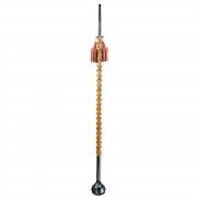 Sandner HM130 maza, 130 cm, ratán, rojo/blanco