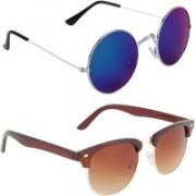 Zyaden Round, Round Sunglasses(Blue)