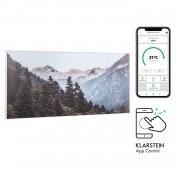 Klarstein Wonderwall Air Art Smart, инфрачервен нагревател, 120 х 60 см, 700 W, приложение, гора (HTR10-WdwlS700wMntn)