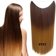 Flip in vlasy - 55 cm dlouhý pás vlasů - odstín 8 T 27 - Světové Zboží