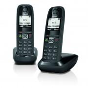 Siemens Gigaset AS405 Telefone Dect Duo Preto