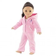 """Pink Velour Juicy Jogging Suit Fits American Girl Dolls - 18 Inch Doll Clothes/clothing 18"""""""