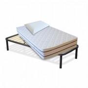 InMaterassi Kit Materasso Memory In Bamboo + Rete A Doghe + Cuscini Memory Kit - 80x190 Cm Singolo + Rete + 1 Cuscino