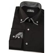 Pánská košile dlouhý rukáv Černá Avantgard 526-2301-43/44/194