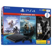Sony Interactive Entertainment PS4 1TB + The Last Of Us + Horizon Zero Dawn + God Of War (Playstation Hits)