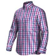 Maatoverhemd roze/blauw 53271
