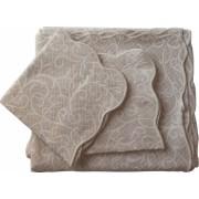 Set de cuvertura de pat Valentini Bianco cu 2 fete de perna din bumbac jackard model Fust045 Bej