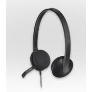 HEADPHONES, LOGITECH H340, USB, Microphone (981-000475)