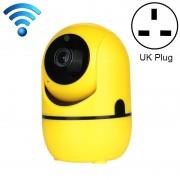 HD Cloud draadloze IP-camera intelligent auto tracking Human Home Security Surveillance netwerk WiFi camera plug type: UK plug (720P geel)