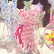25Pcs Paper Straws For Birthday Wedding Decoration Party Straws Supply Creative Paper Drinking Straw