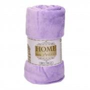 Merkloos Zacht polar fleece plaid/dekentje/kleedje soft pastel lila paars 150 x 200 cm