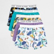River Island Boys Purple tropical boxers multipack - Size 5 - 6 Years
