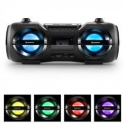 Auna SOUNDBLASTER M BOOMBOX BLUETOOTH CD MP3 USB FM LED ефект 25W RMS (KC2-Soundblaster M)