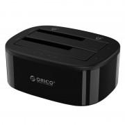 Orico 2 Bay 2.5 / 3.5 USB3.0 HDD SSD Standalone Clone Dock - Black
