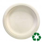 Farfurii ECO unica folosinta Staples, 16 cm, albe, 50 buc/set