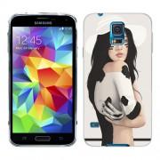 Husa Samsung Galaxy S5 Mini G800F Silicon Gel Tpu Model Painted Women