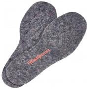Woolpower Kids Felt Insoles recycle grey 2018 26-27 Skosnören & Sulor