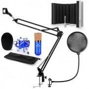 Auna CM001BG set de micrófono V5 micrófono condensador brazo de micrófono protección anti pop escudo (60002014-V5)