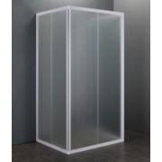 Box Doccia acrilico - 3 lati, apertura scorrevole (opaco) 75x75x75cm
