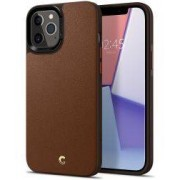 Spigen Ciel by Cyrill Leather Brick iPhone 12 Pro Max Hoesje Bruin