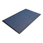 Modrá textilní čistící vnitřní vstupní rohož - délka 120 cm, šířka 180 cm a výška 0,7 cm