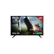 "Smart TV LED 49"" PH49F30DSGWA Philco, Full HD HDMI USB com Android"