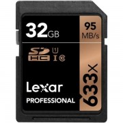 Lexar Professional 32GB Class 10 Uhs-i 633X Speed (95MB/s) SDHC Flash