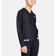 Under Armour Girls' UA Play Up Full Zip Jacket Black YXL