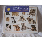 Puzzle Time Frame Tray 24 Piece Puzzles 2-pack [Happy Chatter/ Puzzle Map]