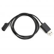 Cabo Carregador Magnético USB para Sony Xperia Z1, Sony Xperia Z1 Compact - 1m - Branco