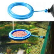 Aquarium Fish Tank Circle Food Feeder Round Ring Floating Buoyancy Sucker Cup