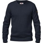 FjallRaven Övik Knit Crew - Dark Navy - Sweaters en laine S