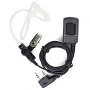 KENMAX 2 Pin PTT MIC Waterproof Covert Acoustic Tube Earpiece for Walkie Talkie Two Way CB Ham Radio Kenwood UV-N98 TK32