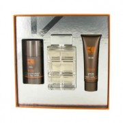 Hugo Boss Orange 3.4 oz / 100.55 mL Eau De Toilette Spray + 1.7 oz / 50.28 mL Shower Gel + 2.4 oz / 70.98 mL Deodorant Stick Gif