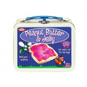 POOF-Slinky 0X4264 Ideal Peanut Butter and Jelly Card Game with Mini Collectible Tin Lunch Box Storage Container, 54-Colorfully Illustrated Cards
