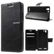 Кожен калъф за Lenovo Vibe K5 / А6020 - черен