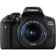 Digitalni foto-aparat Canon EOS 750D, Set (Sa 18-55S+55-250S), Crna