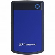 TRANSCEND USB HDD, StoreJet 25H3, 1TB, USB3.0, Rubber casing, Military-grade shock resistance, Quick Reconnect Button, Blue, 3 yrs TS1TSJ25H3B