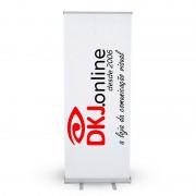 Roll up - porta banner de alto padrão em alumínio 100 x 200 cm