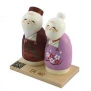 Japonské panenky Kokeshi Jufuku Nekonečné štěstí 13 cm