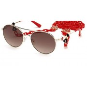 GUESS Women's Gradient Gu7640 GU7640-33F-57 Gold Round Sunglasses