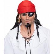 Geen Piraten pruik met bandana