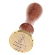 ELECTROPRIME Initial Envelope 10x Melting Candle Stick+Sealing Wax Stamp Seal Xmas Tree