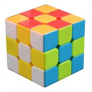 V5-Space® 3x3x3 Intelligence Vivid Colors Stickerless Speed Puzzle Cube Ultra-Smooth Magic Cube