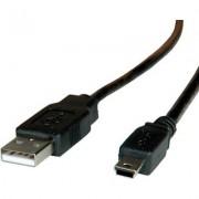 Cable USB2.0 A-Mini 5pin, 3m, Roline 11.02.8730