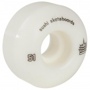 Set 4 Roti Skateboard Sushi Pagoda 51mm/99A albe