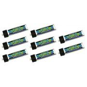 8-Pack of Lectron Pro 3.7 Volt - 220mAh 45C Lipo Batteries for Tiny Whoop, Blade Inductrix FPV, mCX, mCX2, mSR, mSR X, Nano QX, & UMX AS3Xtra
